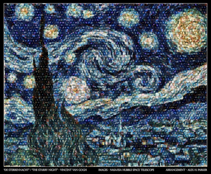 Hubble Starry Night